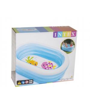"""Детский надувной бассейн для дачи """"Овальный"""""""