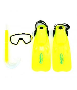 Детский набор для плавания, (маска,ласты,трубка), Размер:33-35