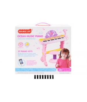 """Игрушка пианино на подставке, стульчик и микрофон """"Ариэль"""" 888-15A"""