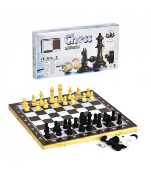 Набор 3 в 1 Шахматы, Шашки, Нарды, большой F22017