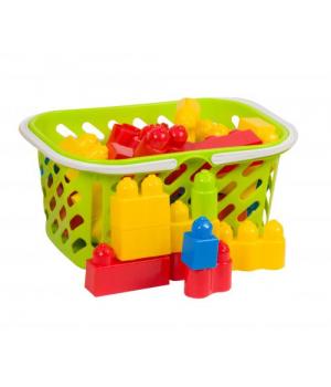 Детский конструктор на 34 детали в корзине салатовый 02-307