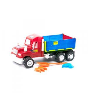 """Машина самосвал """"Heavy Duty"""" с песочным набором красный 15-006-120"""