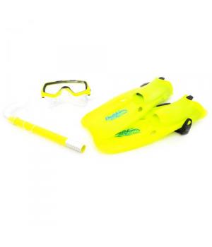 Детский набор для плавания (маска, ласты, трубка), желтый 820, Intex