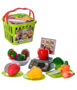"""Овощи и фрукты на липучках """"Super Market"""", в корзинке 686"""