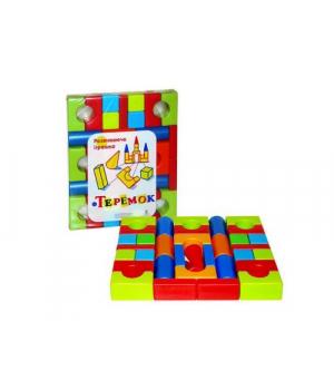 """Кубики конструктор для детей """"Теремок"""" (39 деталей)"""