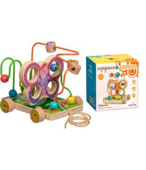 Лабиринт игрушка для детей, каталка-Бабочка, Д116