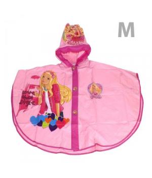 Детский дождевик с капюшоном для девочки, Барби М CL1732