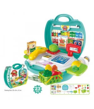 Магазин игрушечный супермаркет, в чемоданчике