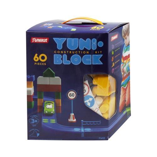 """Блочный конструктор для детей, крупный, """"YUNI-BLOCK"""" 60 деталей, Юника"""