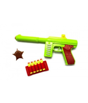 "Детский пистолет с присосками ""M60"", 5 стрел"