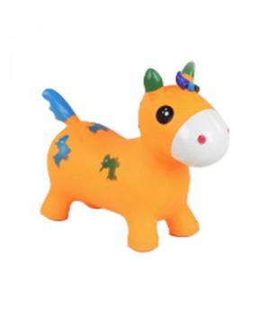 Игрушка прыгун резиновый для детей Единорог, (оранжевый) C37880