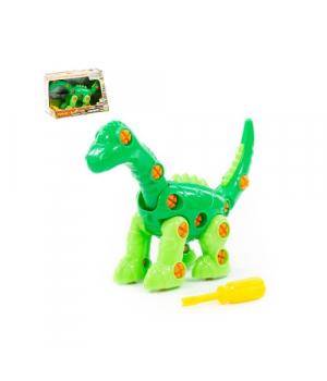 """Детский конструктор-динозавр """"Диплодок"""" (35 эл.) 77165"""