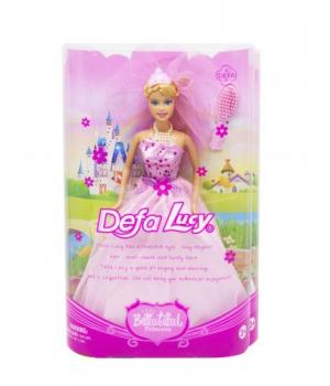 Кукла в свадебном платье ( в розовом) 6091