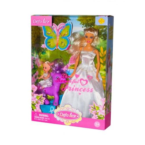 """Набор кукол и пони """"Defa Lucy"""" (в белом) 8077"""