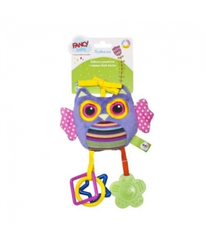 Развивающая игрушка-подвеска на коляску, Сова, PDC0S
