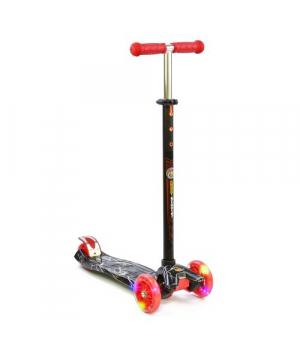 Детский самокат трехколесный, красный, Best Scooter