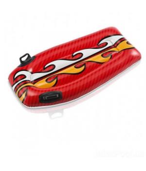 Детский надувной матрас для пляжа, красный, 112 см