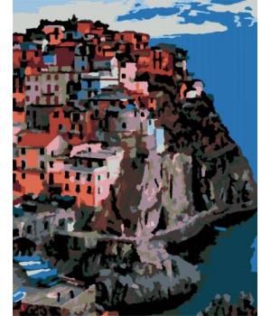 """Картина по номерам """"Италия, г. Манарола"""" ★★☆ N00013170 35х45 см"""