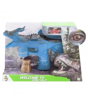 """Пистолет для мыльных пузырей, """"Динозаврик"""", голубой, BV6605"""