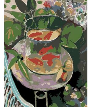 """Картина по номерам """"Красные рыбки"""" ★★☆ N00013112 35х45 см"""