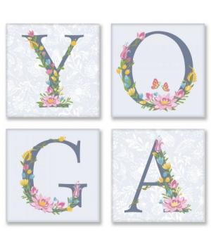 """Картина по номерам """"YOGA, прованс"""" ★★★ СН116 18х18 см"""