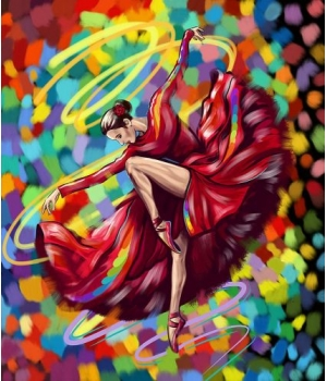 """Картина по номерам """"Яркий танец"""" KpNe-01-01,02,03,04,...10"""