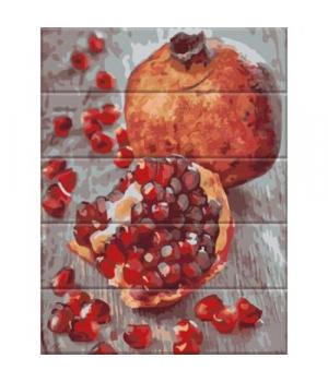 """Картина по номерам на дереве """"Гранат"""" ASW120 40х30 см"""