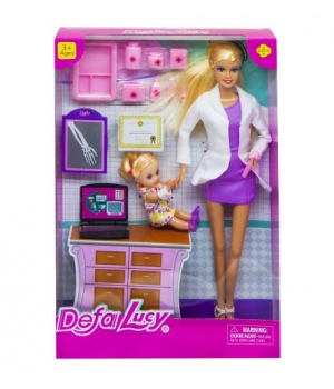 """Детская Кукла """"Defa. Доктор, в фиолетовом 8348"""