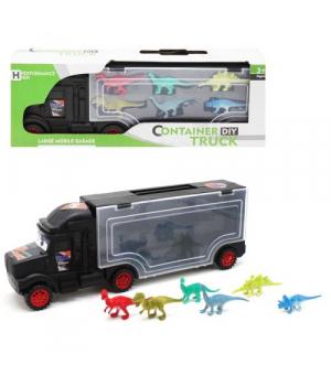 Іграшка фура з трейлером (з динозавриками), 1010