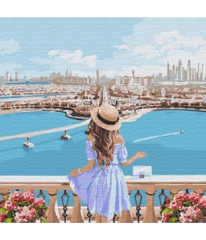 """Картина по номерам """"Любуясь пейзажем"""" ★★★★★ КНО4768"""