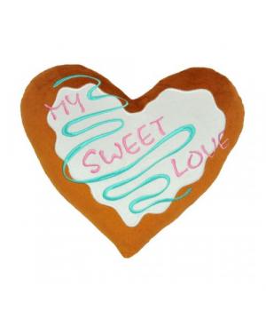 """[ПД-0270] Подушка - серце """"My sweet love"""", Tigres"""