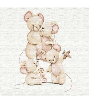 """Картина по номерам """"Счастливая семья"""" ★★★ КНО2359 30х30 см"""