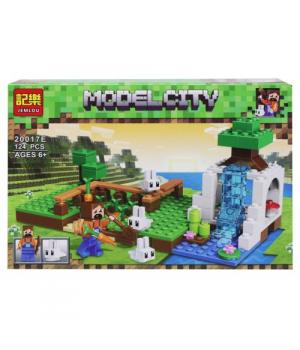 "Конструктор ""Minecraft: Ферма"", 124 детали 20017A-F"