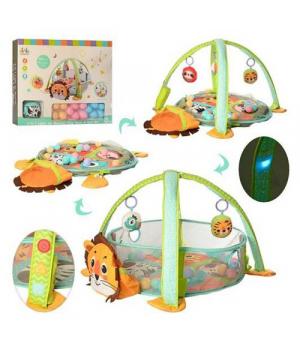"""Игровой коврик-манеж для малышей, c музыкой и подсветкой """"Львенок"""" 63542"""
