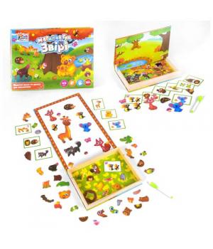 Развивающая магнитная игра с животными, (укр.мова) Fun Game