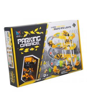 Паркинг игрушка для мальчиков, 4 этажа, Спецтехника