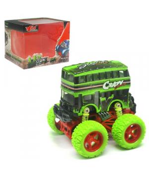 Двухэтажный автобус игрушка с большими колесами
