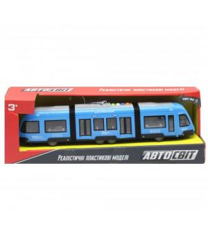 """Трамвай игрушка для детей """"Автосвіт"""", голубой AS-2630"""