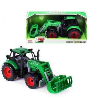 Игрушечный трактор с ковшом, зеленый 9998-6