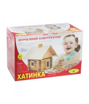 """[84061] Дерев""""яний конструктор """"Хатинка """""""