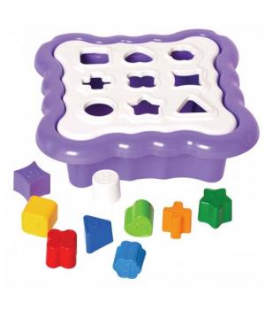 Игрушка сортер с геометрическими фигурками, (фиолетовый), Tigres