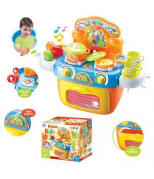 """Маленькая детская кухня с посудкой """"Kitchen Kids"""" со звуковыми эффектами"""