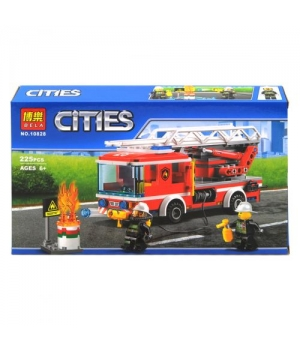 """Конструктор """"Cities: пожарная машина"""", 225 дет 10828"""