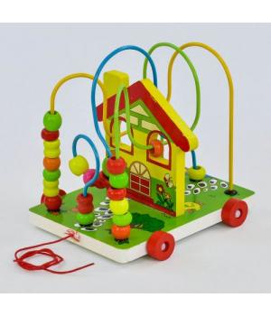 Деревянная каталка деревянный лабиринт для детей, Fun Game