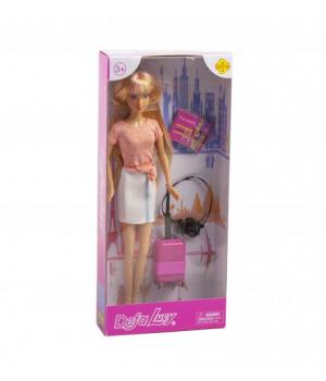 """Детская Кукла """"Defa: путешественница"""" (в розовом) 8377"""
