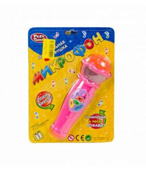 Игрушка микрофон музыкальный (розовый) 7043