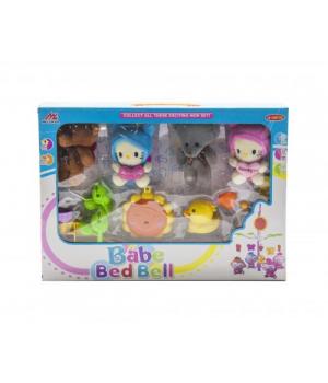 Музыкальная карусель для детской кроватки, Котики и Мишки
