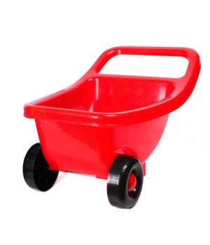 Тачка детская для песка, красный, 4258