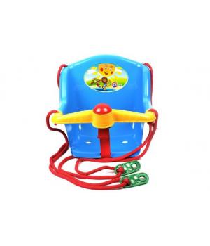 "Качеля домашняя для детей до 20 кг, ""Солнышко"", (синий) Технок"