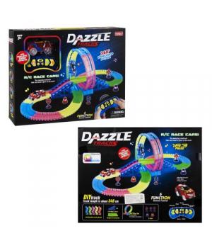 """Игрушка Автотрек с петлей на 360 градусов, """"Dazzle Tracks"""" 163 деталей"""